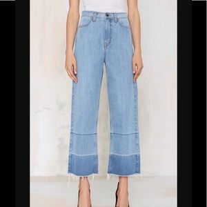 Nasty Gal Mad Crop Wide Leg Jeans